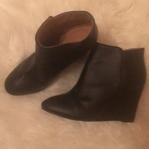 Charlotte Russe size 8 Black wedge booties